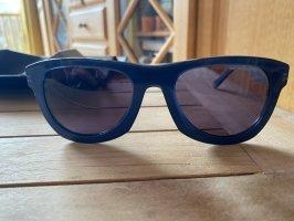 porsche Owalne okulary przeciwsłoneczne chabrowy
