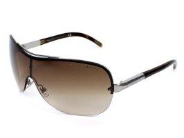 Ralph Lauren Oval Sunglasses silver-colored-brown metal
