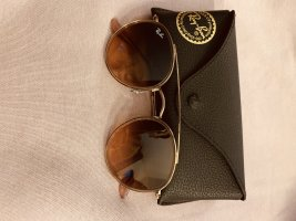 Ray Ban Lunettes de soleil rondes or rose