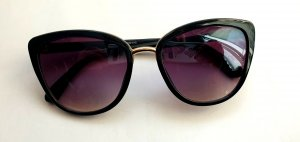 Bijou Brigitte Oval Sunglasses black-sand brown