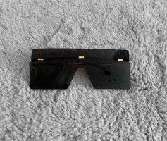 Asos Angular Shaped Sunglasses black-gold-colored