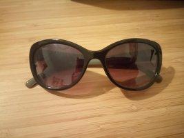 Okulary motylki czarny-szaro-zielony