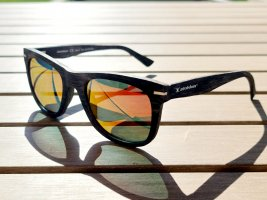 slokker Hoekige zonnebril goud-grijs-bruin