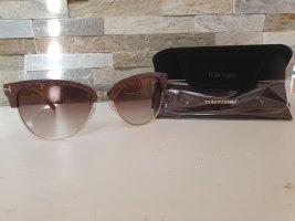 Tom Ford Okrągłe okulary przeciwsłoneczne w kolorze różowego złota