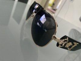 Versace Gafas de piloto negro-color oro