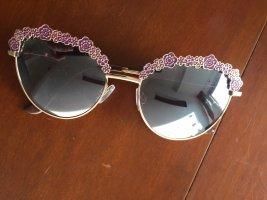 Gafas Retro color rosa dorado-lila