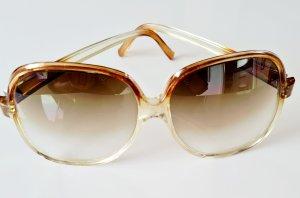 Occhiale da sole spigoloso marrone chiaro-beige chiaro