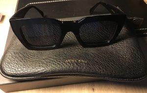 Anine Bing Lunettes de soleil angulaires noir