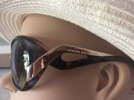 Armani Exchange Oval Sunglasses brown-cognac-coloured