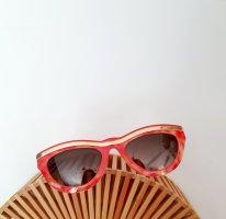 Christian Lacroix Occhiale da sole spigoloso oro-arancio neon