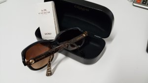 Coach Round Sunglasses gold-colored-brown