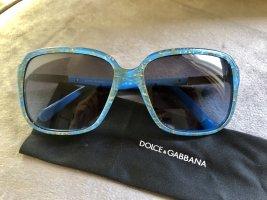 Dolce & Gabanna Lunettes carées bleu fluo-doré