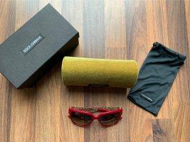 Dolce & Gabbana Occhiale a farfalla oro-rosso scuro