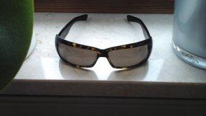 Giorgio  Armani Hoekige zonnebril bordeaux-zandig bruin Glas