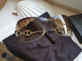 Gucci Gafas de sol ovaladas color bronce-marrón grisáceo