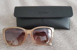 Guess Kwadratowe okulary przeciwsłoneczne beżowy