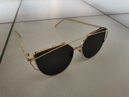 Guillaume Marie Paris Owalne okulary przeciwsłoneczne czarny-złoto