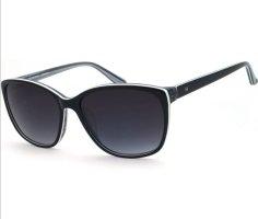 Humphrey Oval Sunglasses white-black