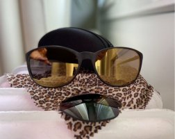 KRASS Retro Glasses dark brown-gold-colored