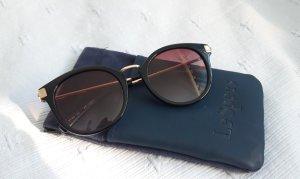 Le Specs Gafas de sol redondas negro acetato