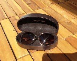 Michael Kors Angular Shaped Sunglasses gold-colored-brown