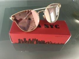 Gafas color rosa dorado-color oro