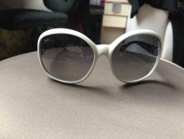 Ray Ban Ovale zonnebril wit-zwart