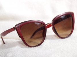 Butterfly Glasses carmine-gold-colored