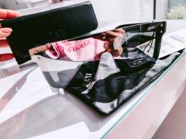 Sonnenbrille ZARA kantig eckig Spiegel Neu schwarz Silber