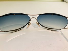 Chanel Occhiale stile retro argento-grigio ardesia