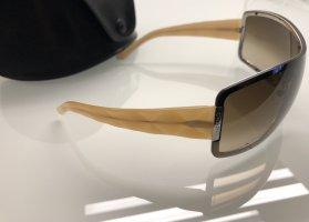 Chanel Lunettes de soleil ovales chameau