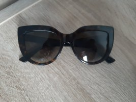 Gucci Ovale zonnebril donkerbruin