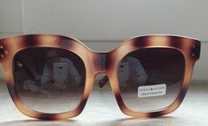 Tommy Hilfiger Lunettes de soleil ovales bronze