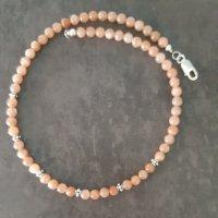 Sonnenstein Perlenkette Naturstein