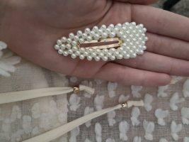 Spange Haarspange weiß Perlen blogger hipster boho