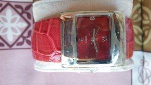 Sztywna bransoletka srebrny-ceglasty