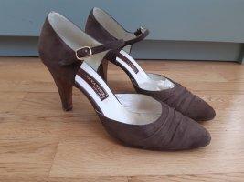 Sandalo con cinturino bronzo Pelle
