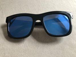 Kwadratowe okulary przeciwsłoneczne czarny-niebieski