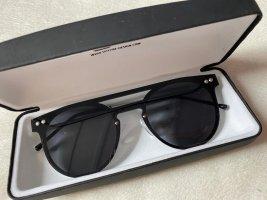 Spitfire – Runde Sonnenbrille mit flacher Oberkante in Schwarz