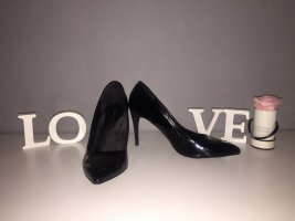 Spitze High Heels /Pumps Lack schwarz Gr. 40