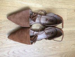 Spitze Sandalen | Caramel