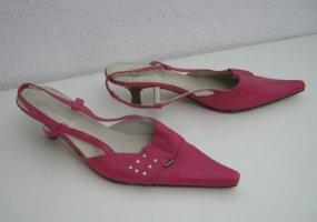 Spitze Slingbacks Sandalette Größe 39 Pink BATA