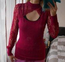 Melrose Koronkowa bluzka głęboka czerwień