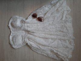 SheIn Vestido de encaje blanco