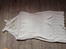 Vestito di lana bianco sporco-bianco