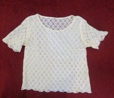 3 Suisses Lace Blouse natural white cotton