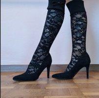 Spitzenschuhe High Heels Pumps stretch schwarz 37 topp elegant
