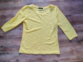untitled Siateczkowa koszulka żółty