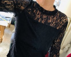 Lace Blouse dark blue