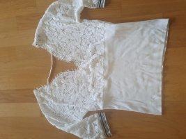 TwinSet Simona Barbieri Lace Top white